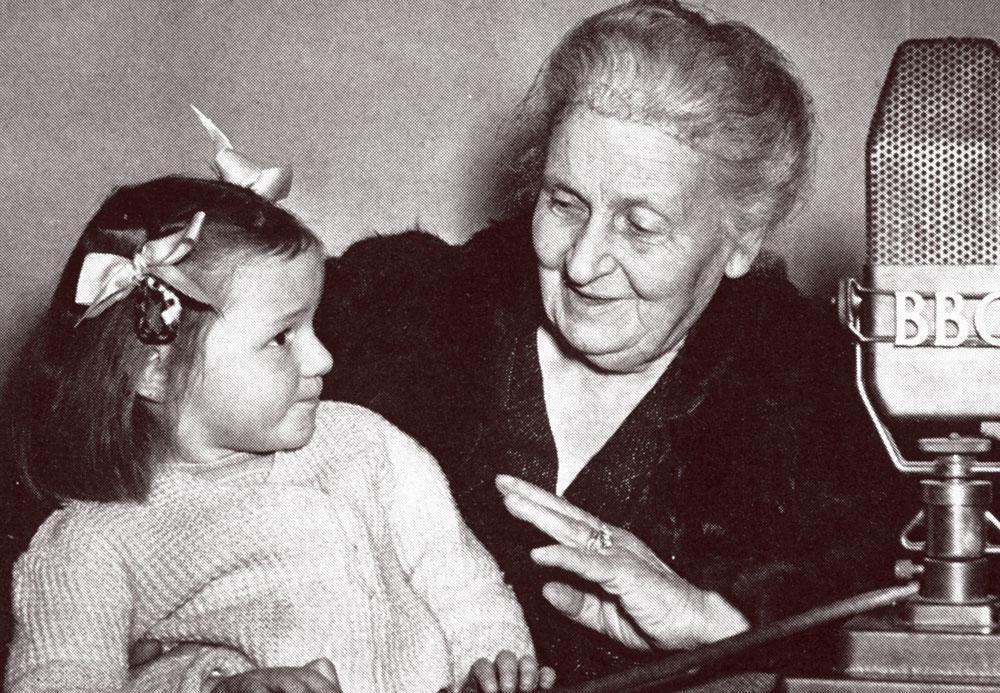 Maria Montessori with child