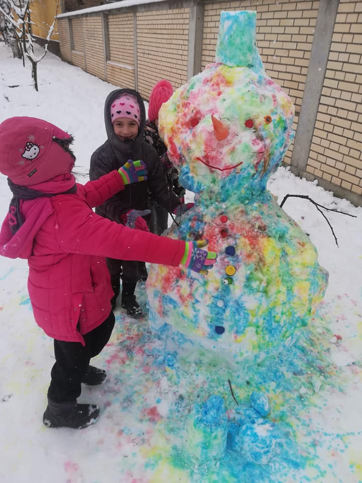 Water painting Snowman