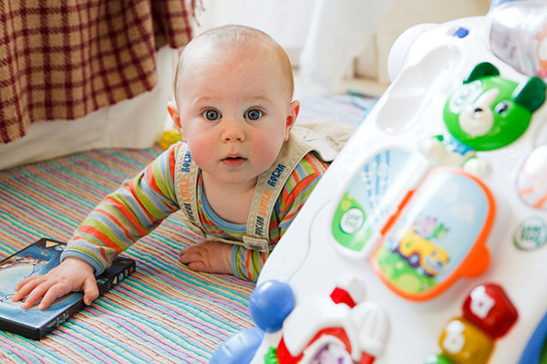 Child development through research, baby 9 months old, Photo credit PublicDomainPictures