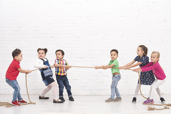 Favorite kids game Tug of War