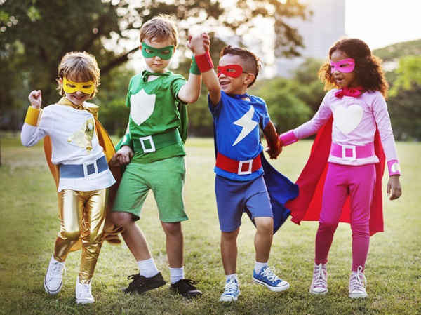 Superhero kids, photo credit rawpixel