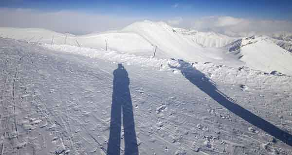 Snow shadows, photo credit IndiaToday