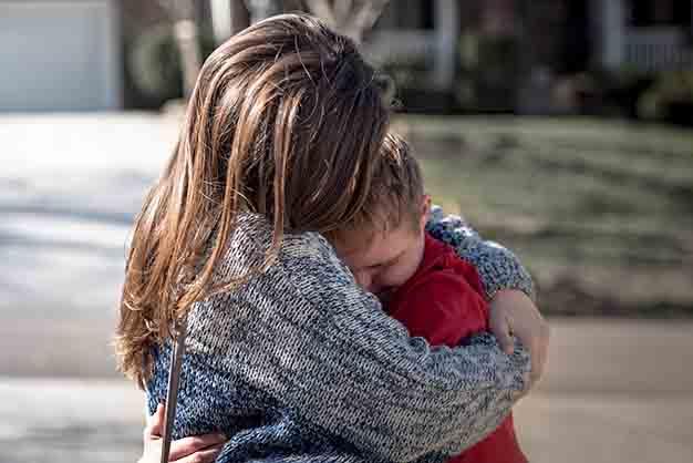 A family hug